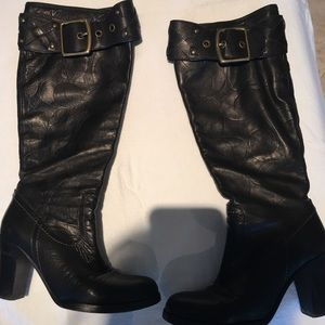 Authentic coach leather boots